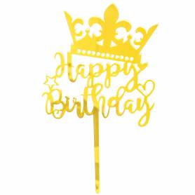 Topper plexiglass Happy Birthday corona