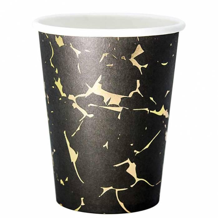 Bicchiere Marmo oro