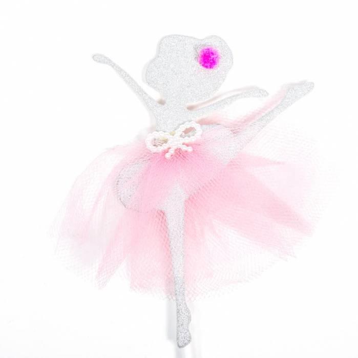 picks ballerina glitter argento tulle