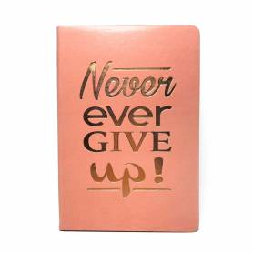 Block notes in simil pelle stampa oro rosa