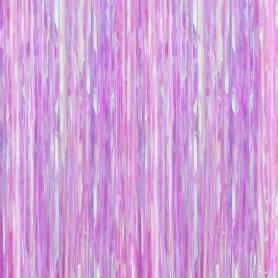 tenda frange viola iridescente