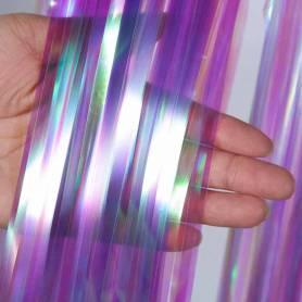 frange effetto viola iridescente