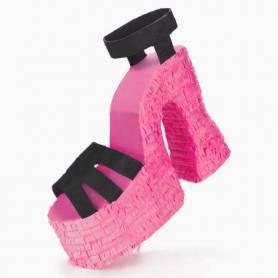 Pignatta scarpa tacco rosa
