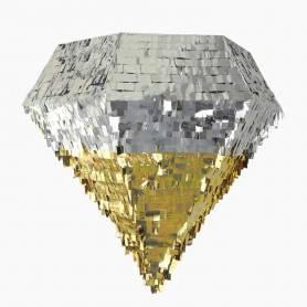 Pignatta diamante argento oro