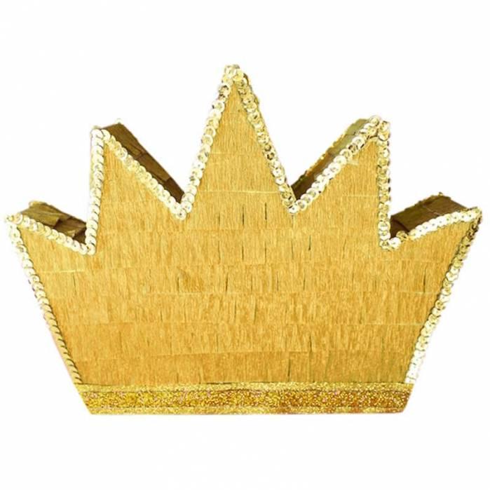Pignatta corona oro paillette