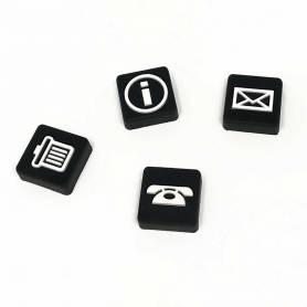 Set 4 calamite bianco nero
