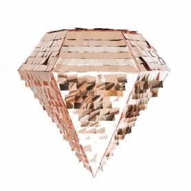 Pignatta a forma di Diamante oro