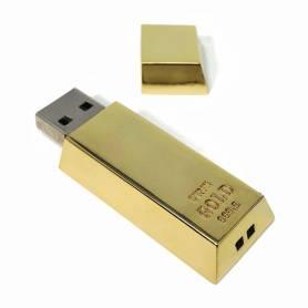 Chiavetta USB a forma di lingoto d'oro