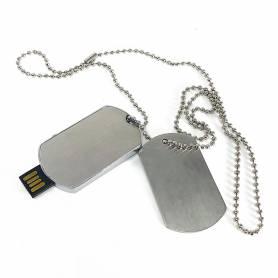 Chiavetta USB con collana stilo militari personalizzabile