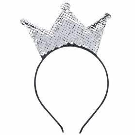 Cerchietto corona con paillettes