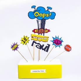 Topper torta fumetto personalizzato