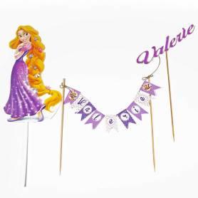 Topper personalizzato torta Rapunzel