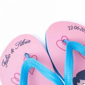 ciabatte matrimonio personalizzate nomi e data