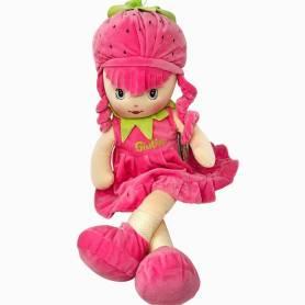 Bambola morbida fragola con nome
