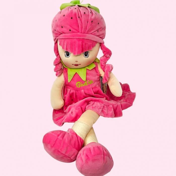 Bambola morbida fragola personalizzata