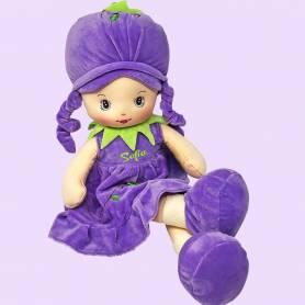 Bambola morbida lampone personalizzata