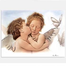 Bomboniera quadro angeli