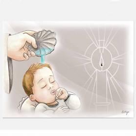 Bomboniera quadro battesimo