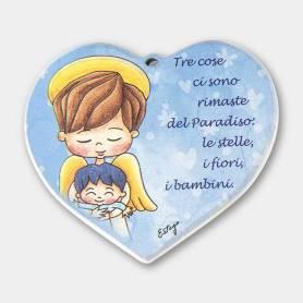 cuore angelo bimbo messaggio bambini