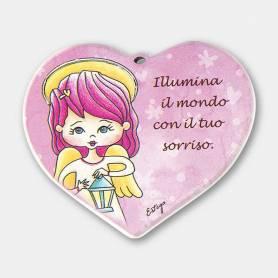 cuore Illumina il mondo angelo bambina