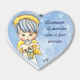 cuore Illumina il mondo angelo bambino