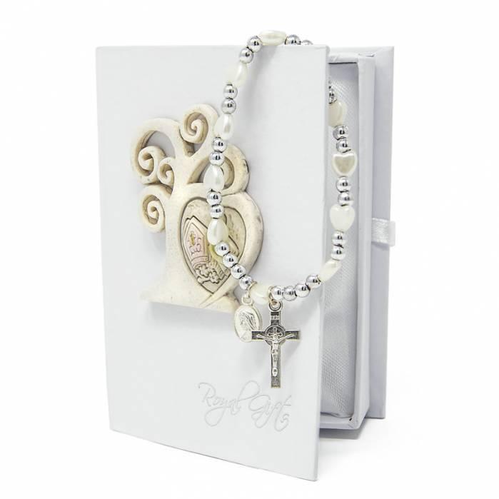 Box libro cresima comunione con rosario