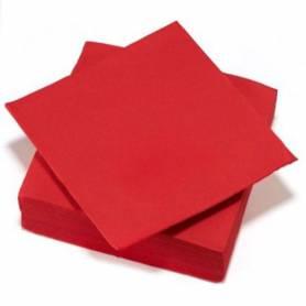 Tovaglioli effetto tessuto colore rosso