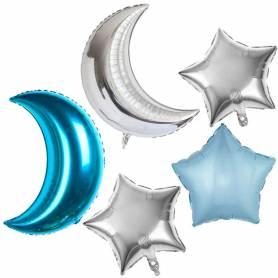Set palloncini luna stella celeste