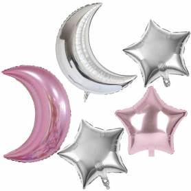 Set palloncini luna stella rosa