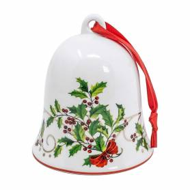 Campanella Natale in ceramica