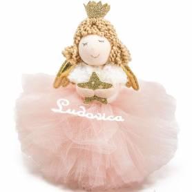 addobbo natale ballerina tulle rosa