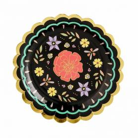 Piatto di carta fiori messicani