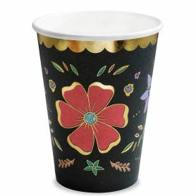 Bicchiere carta fiori messicani