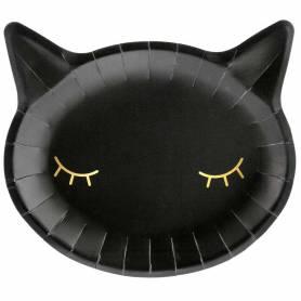 Piatto sagomato gatto nero