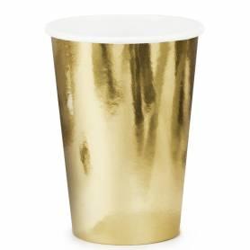 Bicchieri di carta oro lucido