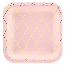 Piatti quadrati rosa