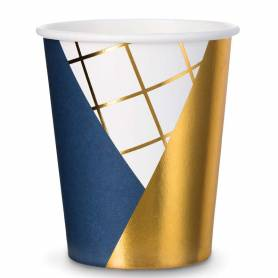 Bicchieri geometrici blu royal oro
