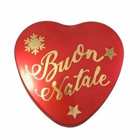 Scatolina cuore metallo Buon Natale