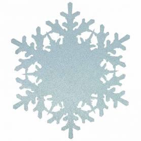 Sottopiatto fiocco di neve glitter
