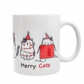 Tazza natalizia gatti