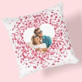 Cuscino personalizzato con foto cuore