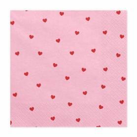 Tovaglioli di carta rosa cuori