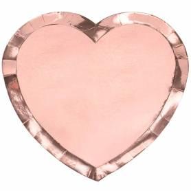 Piatto cuore oro rosa sagomato