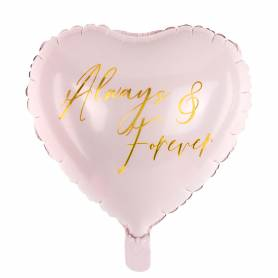 Palloncino cuore rosa always & forever