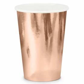 Bicchieri di carta oro rosa