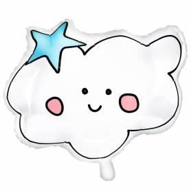 Palloncino nuvola con faccina