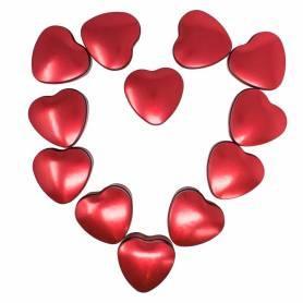 Scatole cuore in metallo