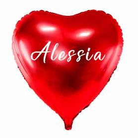 Palloncino cuore rosso personalizzato