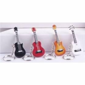 Portachiavi chitarra colore nero, rosso, arancione, bianco