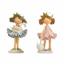 Coppia di principesse in resina